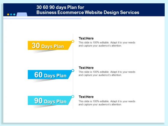 30 60 90 Days Plan For Business Ecommerce Website Design Services Ppt Templates PDF