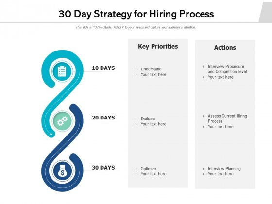30 Day Strategy For Hiring Process Ppt PowerPoint Presentation Gallery Designs PDF