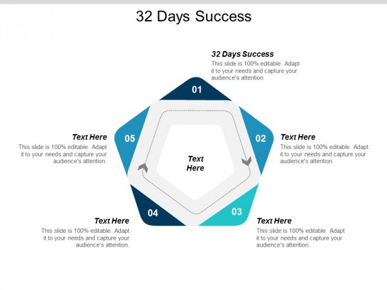 32 Days Success Ppt Powerpoint Presentation Infographics Background Images Cpb