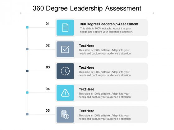360 Degree Leadership Assessment Ppt PowerPoint Presentation Model Introduction Cpb Pdf