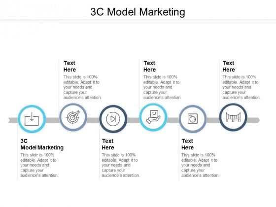3C Model Marketing Ppt PowerPoint Presentation Gallery Rules Cpb Pdf
