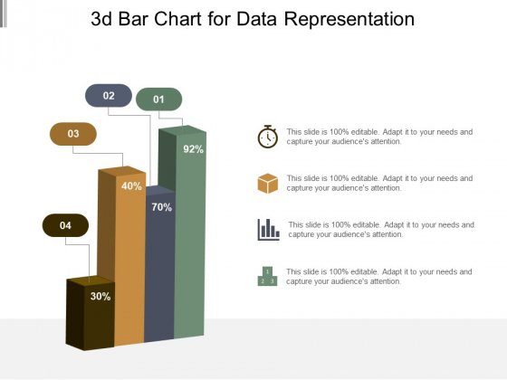 3D Bar Chart For Data Representation Ppt PowerPoint Presentation Model Graphic Tips