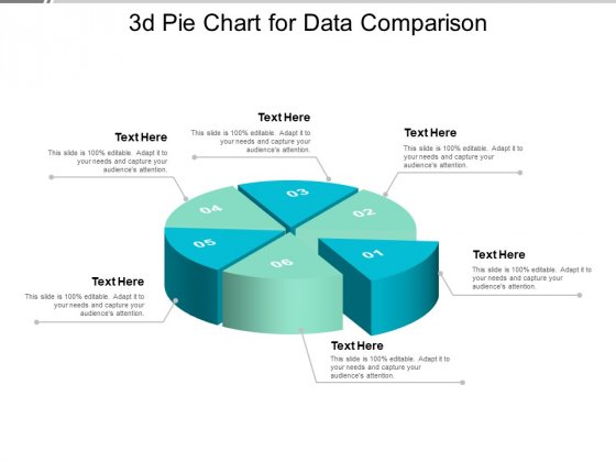 3D Pie Chart For Data Comparison Ppt PowerPoint Presentation Model Design Ideas