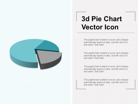 3D Pie Chart Vector Icon Ppt PowerPoint Presentation Gallery Portfolio