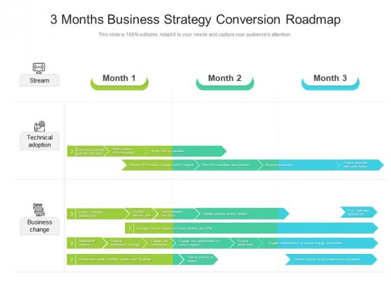 3 Months Business Strategy Conversion Roadmap Ideas
