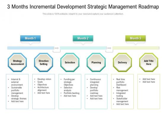 3_Months_Incremental_Development_Strategic_Management_Roadmap_Inspiration_Slide_1