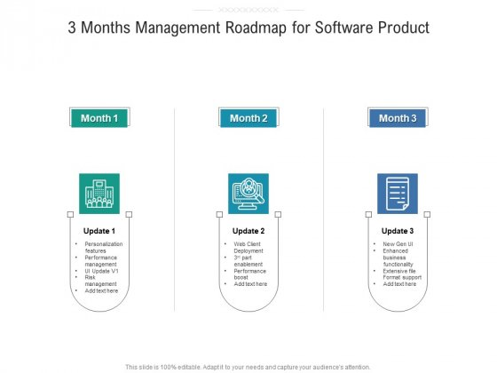 3 Months Management Roadmap For Software Product Background