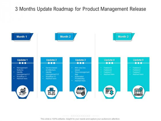 3 Months Update Roadmap For Product Management Release Infographics