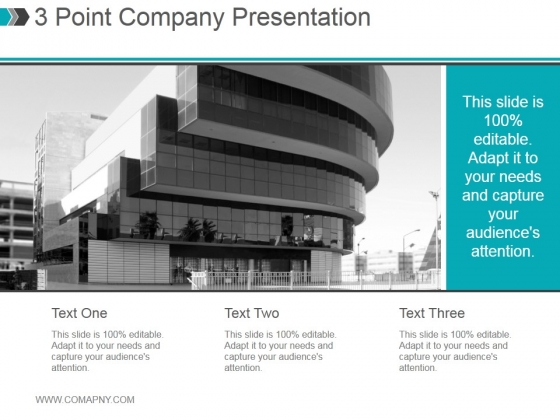 3 Point Company Presentation Ppt PowerPoint Presentation Example