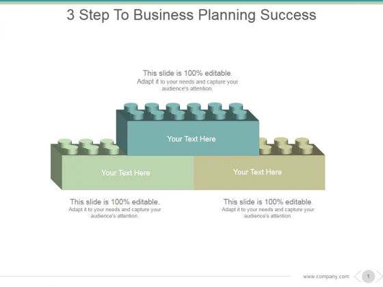 3 Step To Business Planning Success Ppt PowerPoint Presentation Infographics