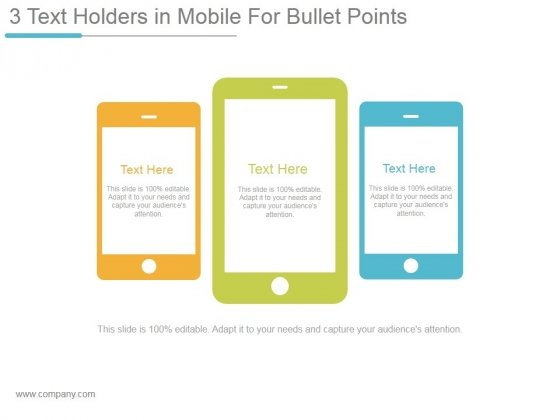 3_Text_Holders_In_Mobile_For_Bullet_Points_Ppt_PowerPoint_Presentation_Visual_Aids_Slide_1