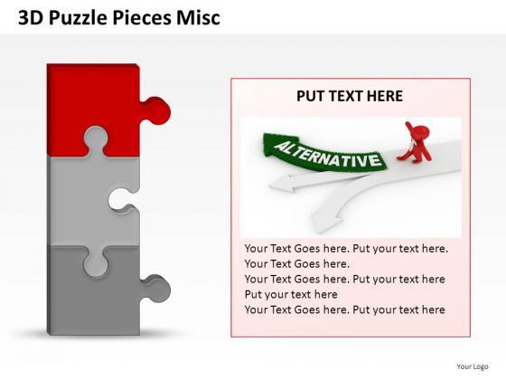 3 Alternatives Puzzles PowerPoint Slides And Ppt Diagram Templates