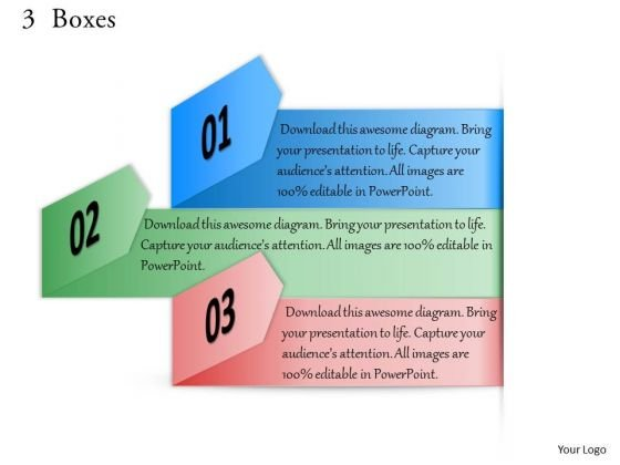 3 Boxes PowerPoint Presentation Template