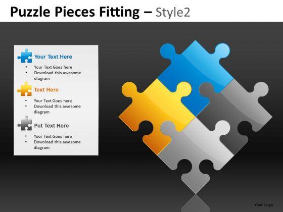 3 Editable Jigsaws PowerPoint Slides