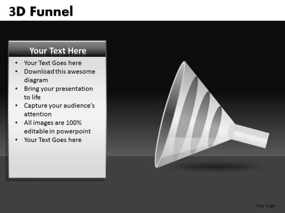 3 Layers Funnel Graphic PowerPoint Images