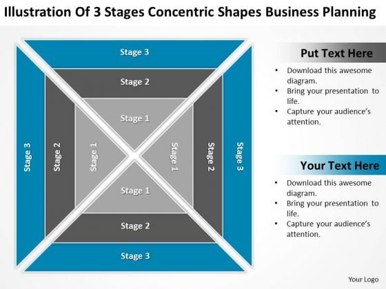 3 Stages Concentric Shapes Business Planning Ppt Prepare PowerPoint Slides