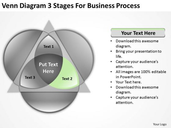 3 Stages For Business Process Ppt Downloadable Plan Template PowerPoint Templates