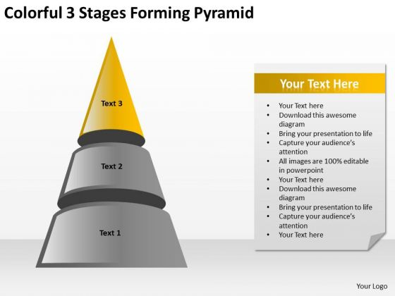 3 Stages Forming Pyramid Ppt Consulting Business Plan Template PowerPoint Templates