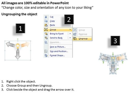 3_stages_hub_and_spoke_diagram_examples_business_plan_outline_powerpoint_slides_2