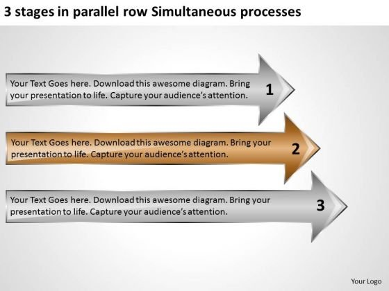3 Stages In Parallel Row Simultaneous Processes Ppt Real Estate Business Plan PowerPoint Slides
