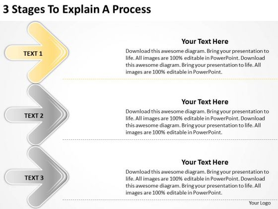 3 Stages To Explain Process Business Plans Writers PowerPoint Slides