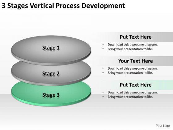 3 Stages Vertical Process Development Ppt Best Business Plans PowerPoint Templates