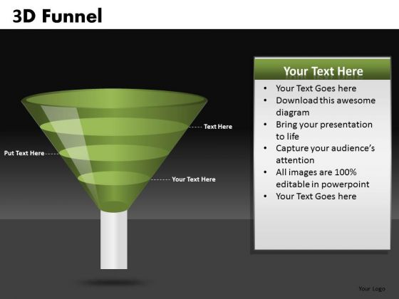 3 Step Conversion Funnel PowerPoint Diagrams For Ppt Templates