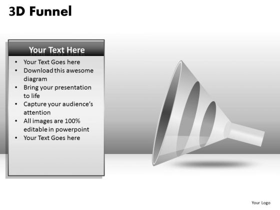 3 Step Conversion Funnel PowerPoint Slides