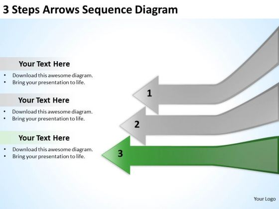 3 steps arrows sequence diagarm ppt examples of business plan powerpoint templates powerpoint templates