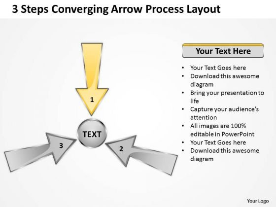 Steps Converging Arrow Process Layout Cycle Flow Diagram - Cycle flow chart template