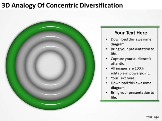 3d Analogy Of Concentric Diversification Business Plan Steps PowerPoint Templates