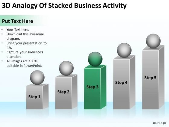 3d Analogy Of Stacked Business Activity Ppt Basic Plan PowerPoint Templates