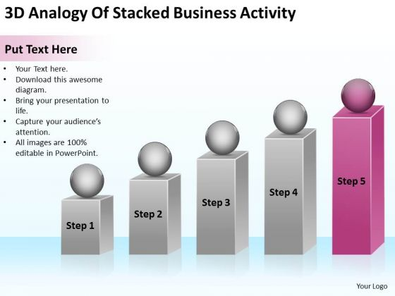 3d Analogy Of Stacked Business Activity Ppt Plan PowerPoint Templates