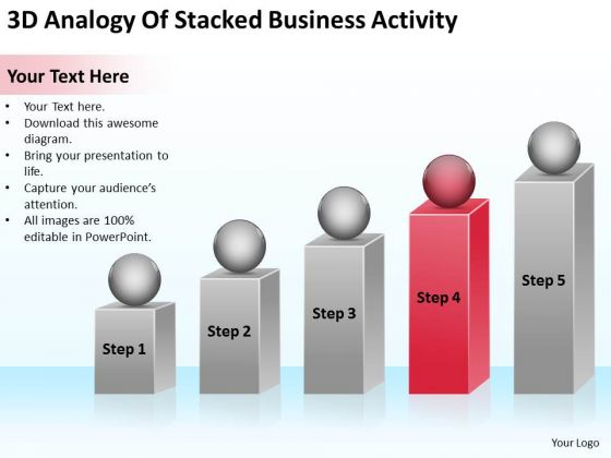 3d Analogy Of Stacked Business Activity Your Plan PowerPoint Templates