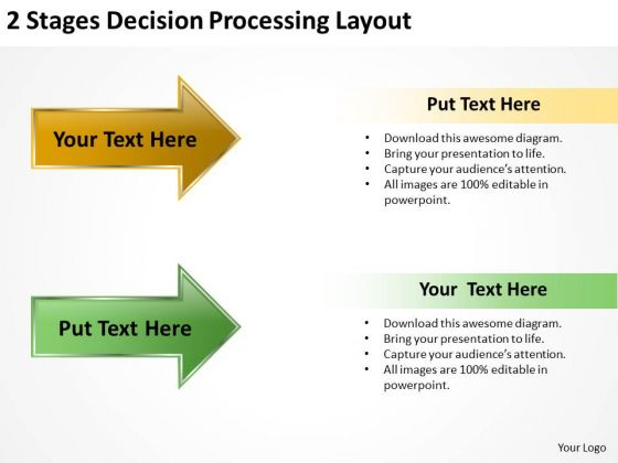 3d Arrow PowerPoint Decision Processing Layout Templates Ppt Backgrounds For Slides