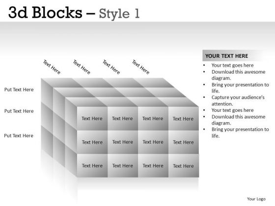 3d Blocks PowerPoint Slides And Ppt Theme Templates