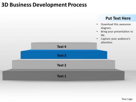 3d Business Development Process Ppt Plan Writer Software PowerPoint Templates