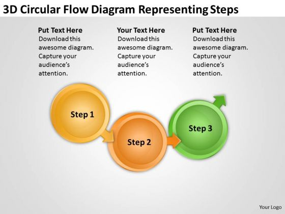 3d Circular Flow Diagram Representing Steps Process Chart Manufacturing PowerPoint Slides