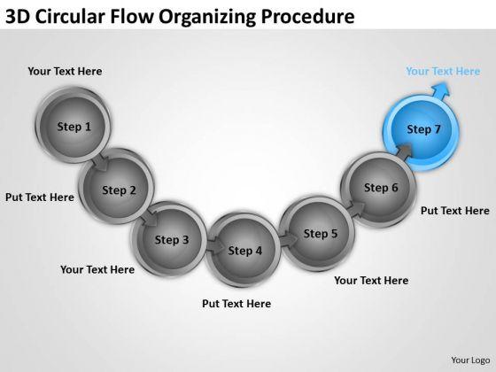 3d Circular Flow Organizing Procedure Free Business Planning PowerPoint Slides