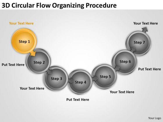 3d Circular Flow Organizing Procedure Free Sample Business Plans Templates PowerPoint Slides