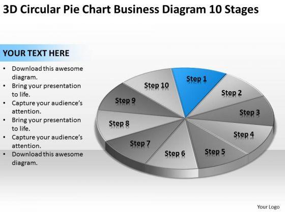 3d Circular Pie Chart Business Diagram 10 Stages Ppt Plan Development PowerPoint Slides