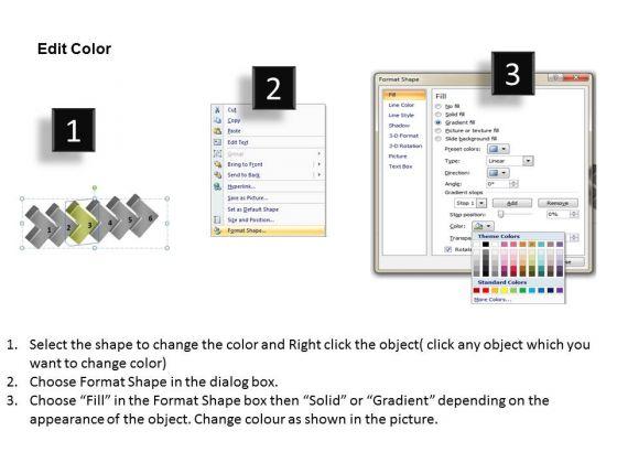 3d Continuous Illustration 6 Stages Work Process Flow Chart