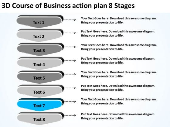 Business Action Plan Sample Business Action Plan Template - Restaurant business plan template free