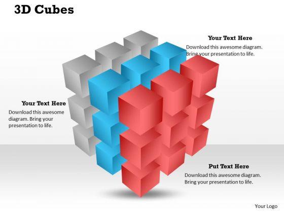 3d Cubes PowerPoint Presentation Template