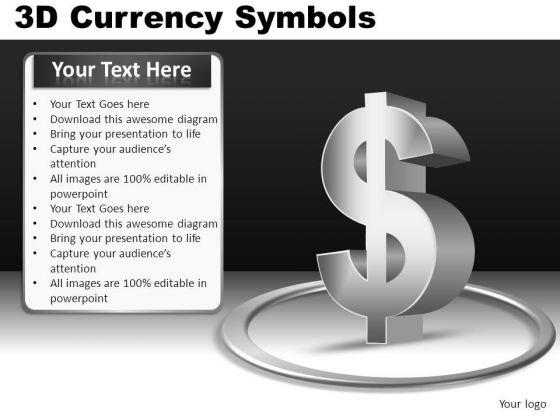 3d Dollar Symbol PowerPoint
