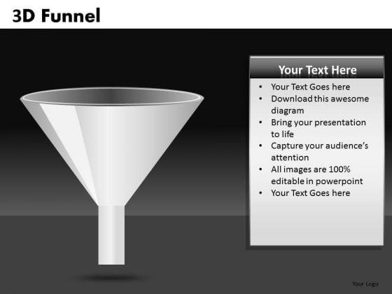 3d Funnel PowerPoint Clipart Graphics Slides