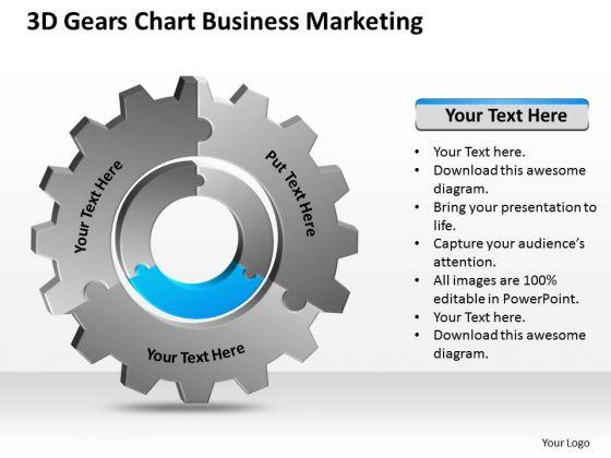 3d Gears Chart Business Marketing Ppt Plan PowerPoint Templates