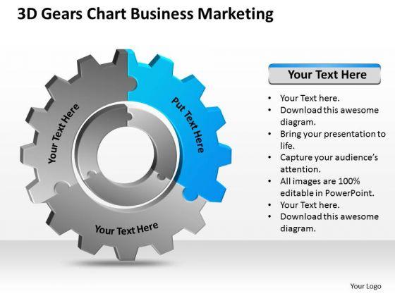 3d Gears Chart Business Marketing Ppt Plan Programs PowerPoint Templates