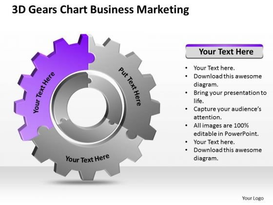 3d Gears Chart Business Marketing Ppt Pro Plan PowerPoint Templates