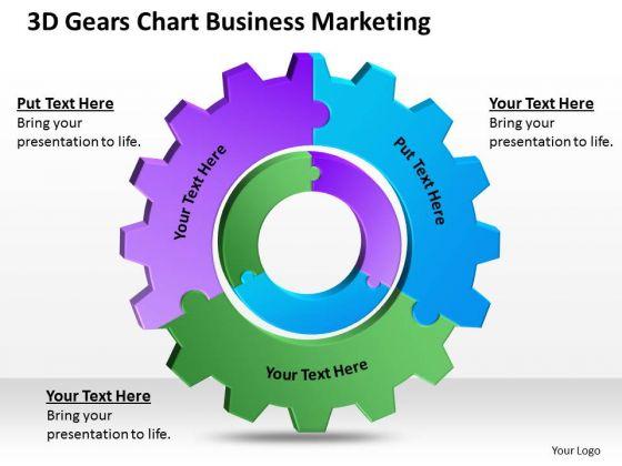 3d Gears Chart Business Marketing Ppt Simple Plan Template PowerPoint Templates